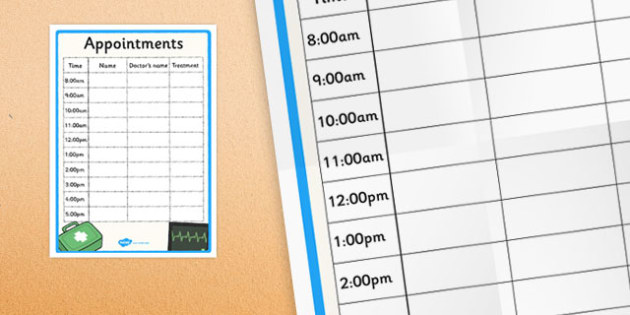 Appointment Sheet - FREE DOWNLOAD - doctor sign in sheet