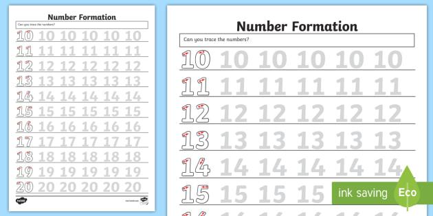 FREE! - Number Formation Worksheet / Worksheet - Number formation