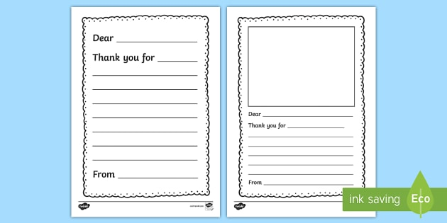 Thank You Letter Writing Template - thank you, letter, writing - thank you letter template