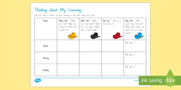 Self reflection and goal setting Worksheet / Activity Sheet - goal setting templates