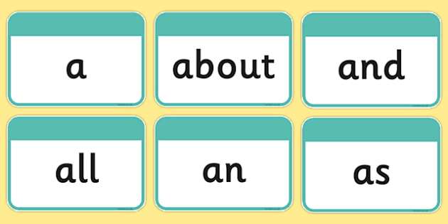 100 High Frequency Words Flashcards - DfES Letters and Sounds