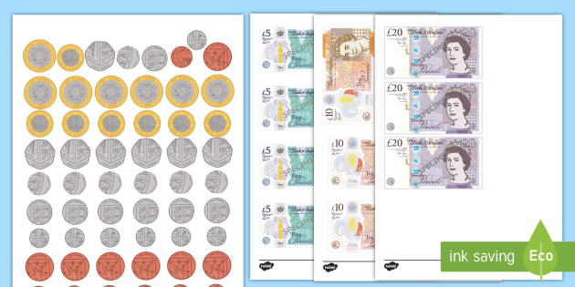 New British Money Uk Coin Cut Outs Coins Money Counting