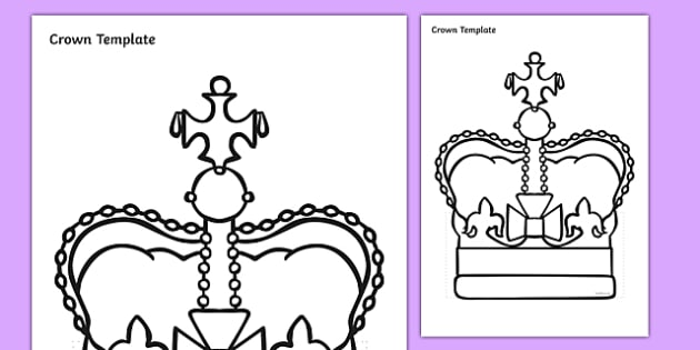 Crown Template Worksheet / Activity Sheet, worksheet - crown template