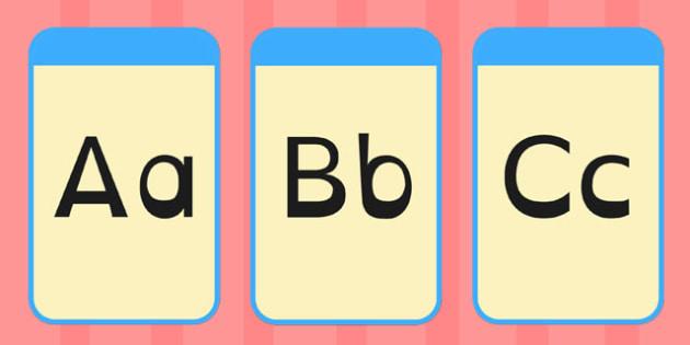 Alphabet Flashcards Dyslexia - alphabet, flashcards, dyslexia