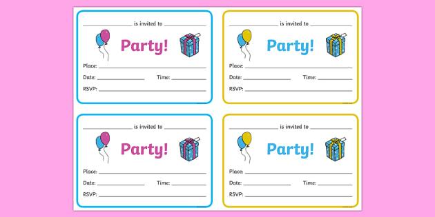 FREE! - Birthday Party Invitations - Birthdays, birthday party, party