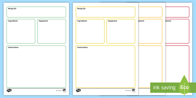 FREE! - Recipe Plain Template - recipes, templates, food, cooking, cook