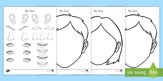 Blank Faces Templates Worksheet / Worksheet - faces, templates, craft