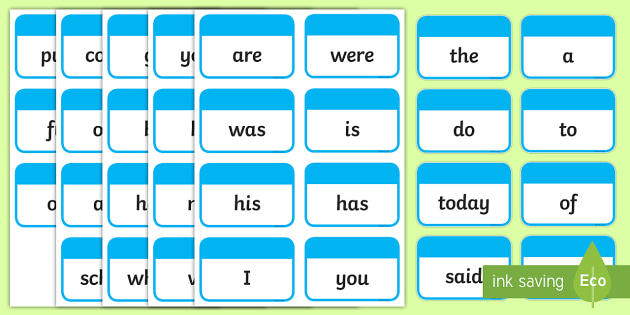 Year 1 Common Exception Words Flashcards - flashcards, exception - flash cards words