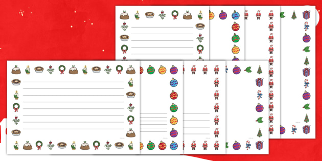 FREE! - Christmas Themed Page Border (Landscape) - christmas