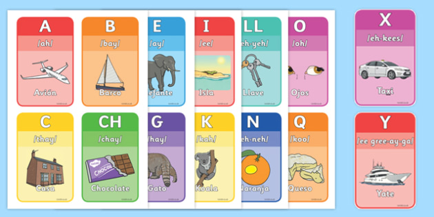Spanish Alphabet Flashcards - spanish, alphabet, flashcards - alphabet in spanish