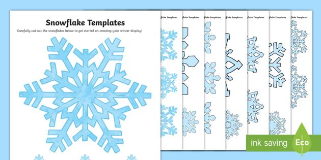 Snowflake Pattern Template - snowflakes, winter, template, snow