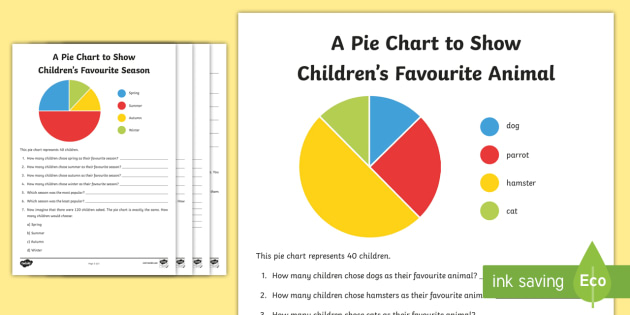 Pie Chart Interpretation Worksheets - pie chart, chart, sheet