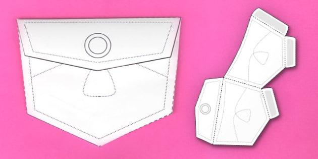Interactive Jean Pocket Visual Aid Template - jeanpocket - pocket template