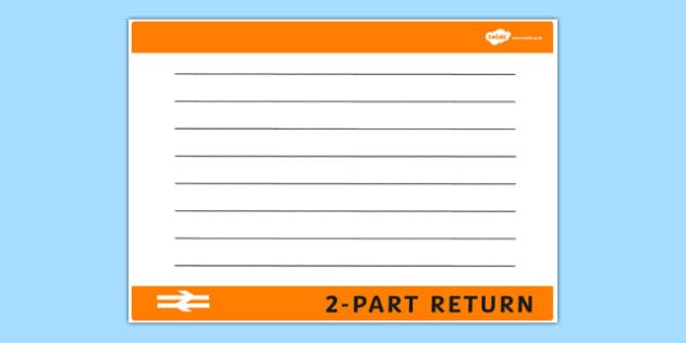 blank train ticket template - Jolivibramusic