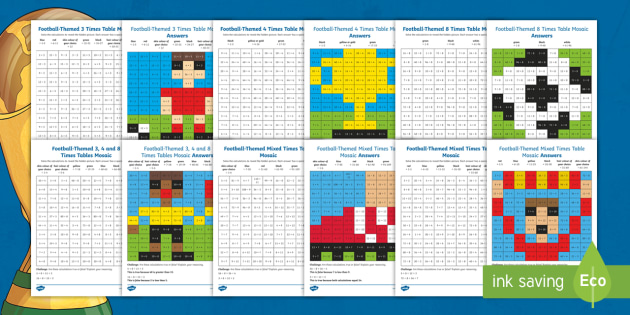 NEW * LKS2 Football-Themed Multiplication Tables and Division Facts