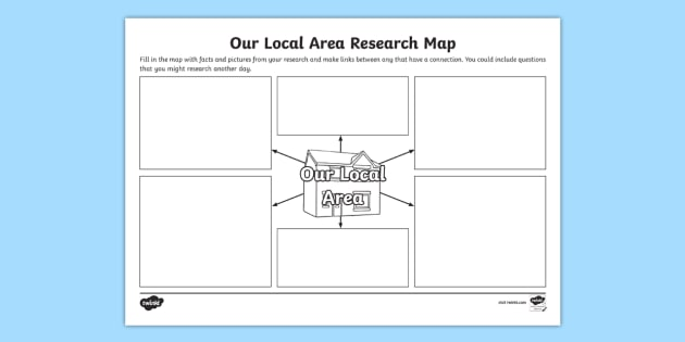 Our Local Area Research Map Template - local, area, research