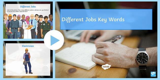Jobs PowerPoint - SEN, workplace, jobs, skills, vocations