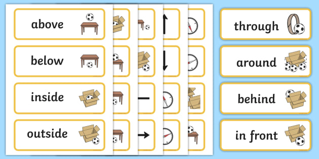 FREE! - Positional Language Word Cards - Postion, Positional, Positional