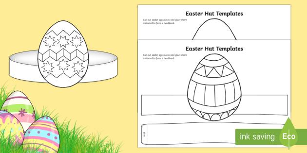 FREE! - Easter Hat Templates Worksheet / Worksheet - easter, easter