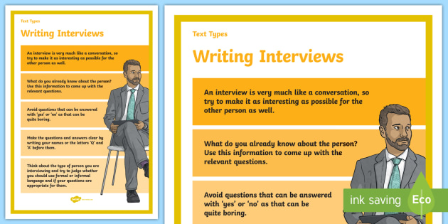 Text Types Guide Interview Display Poster - interview poster, planning