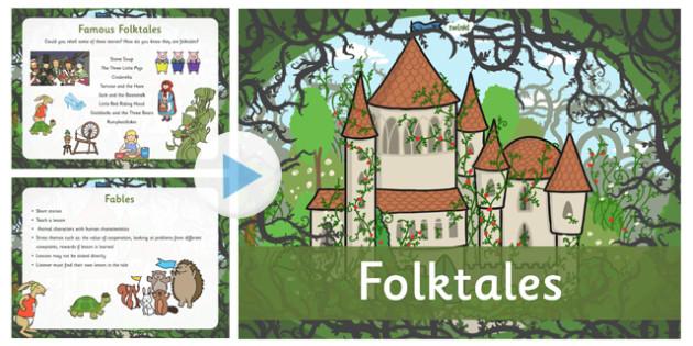 Folktales Information PowerPoint - presentation, folktales
