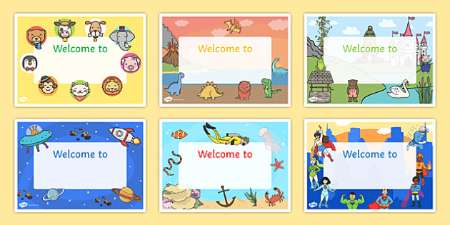 Welcome Signs - editable signs, welcome signs, signs and labels