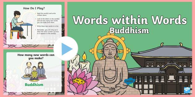 KS1 Buddhism Words within Words PowerPoint Game - Buddhist