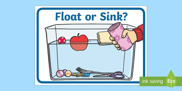 Float Or Sink Poster Float Or Sink Physical Science