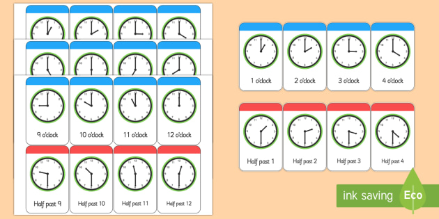 Time Cards to Support Teaching on What\u0027s the Time, Mr Wolf? - mr