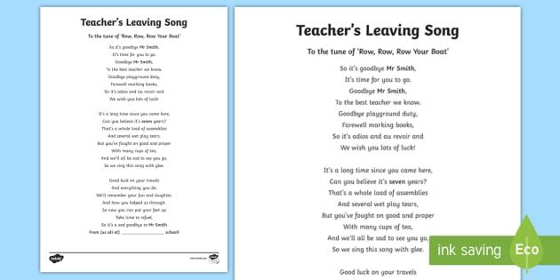 KS2 Teacher\u0027s Leaving Song - leavers, goodbye, retirement, retire