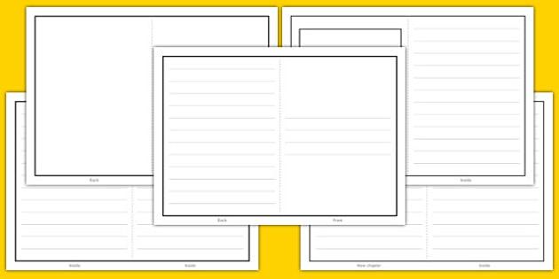 Book Writing Template - book writing, template, book, write, blank