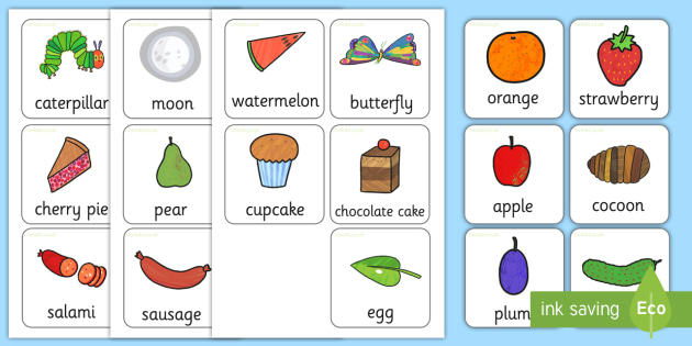 Free Flash Cards To Support Teaching On The Very Hungry
