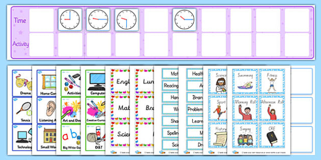 Daily Routine Resource Pack - ks2, visual, timetable, pack - daily timetable