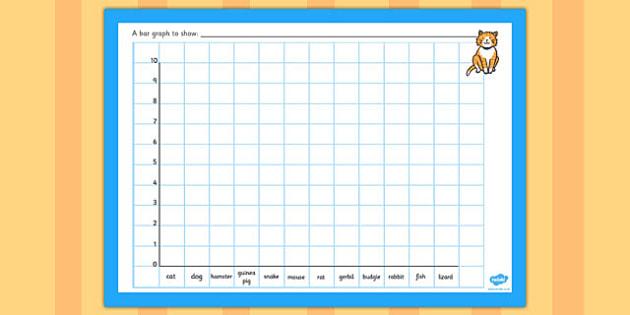 Class Pets Bar Graph Template - class pets bar graph template - blank bar graph printable