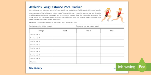 Physical Activity Log Template - activity log template
