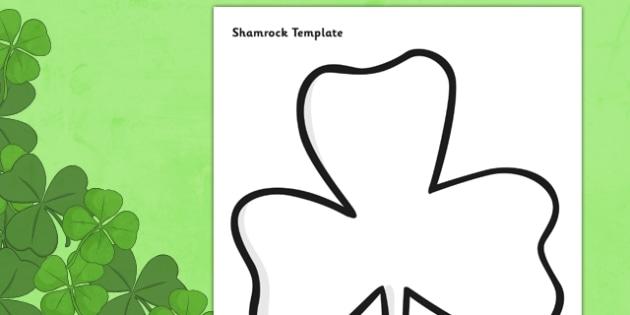 Patricks Day Shamrock Template - st patricks day, st patrick - shamrock template