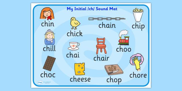 Ch Sound Mat Ch Sound Sounds Sound Mat Ch Visual Aid