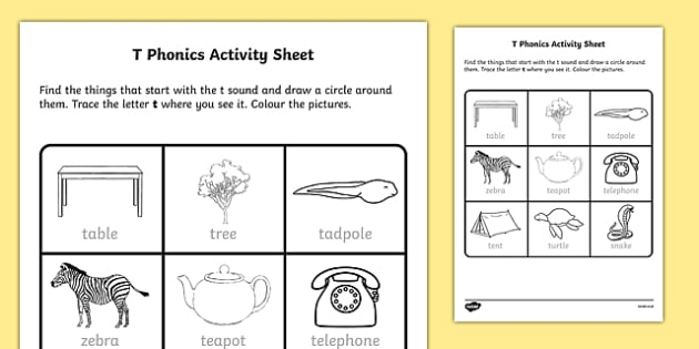 t Phonics Worksheet / Worksheet-Irish, worksheet