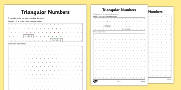 Triangular Numbers on Isometric Dot Paper - CfE, number