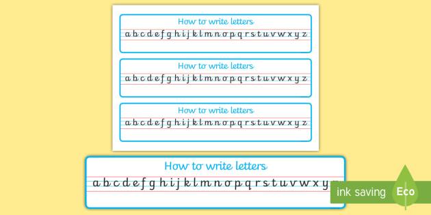 Cursive Alphabet Strip - - cursive, alphabet, strip, handwriting