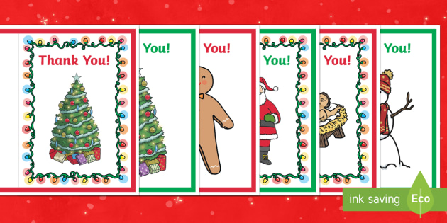 Holiday Thank You Cards - ESL Christmas Resources