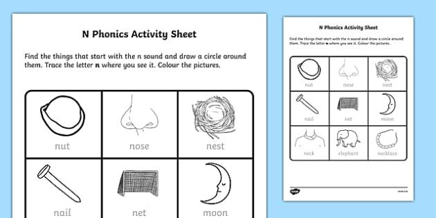 n Phonics Worksheet / Activity Sheet-Irish, worksheet - phonics worksheet
