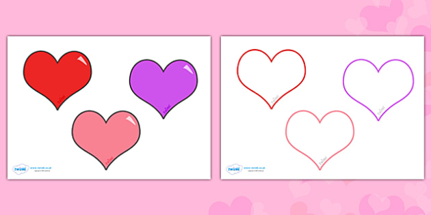 FREE! - Valentine\u0027s Day Editable Heart Template - valentine, heart, love