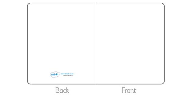 FREE! - Editable Greetings Card Template - Blank editable card templates