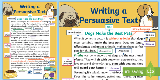 Writing a Persuasive Text Display Poster - Persuasive writing, point