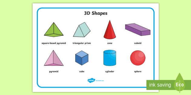 FREE! - 3D Shape Word Mat - Word mat, writing aid, 3D Shape names, Shape