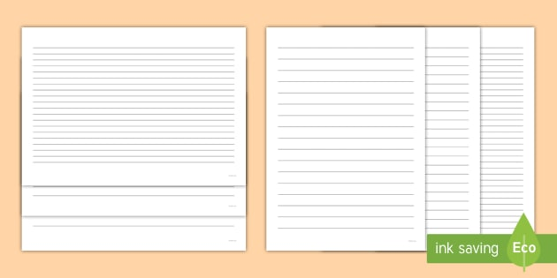 Lined Paper No Borders Pack for Writing Practice