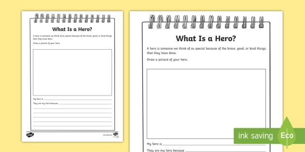 My Hero Writing Worksheet
