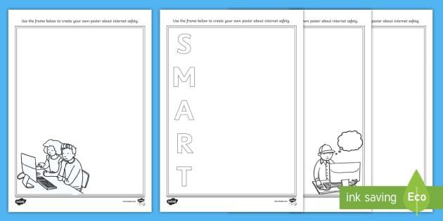 KS1 Safer Internet Day Design a Poster Worksheet / Worksheet Pack