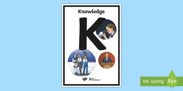 New K In The Abc Of Parliament A4 Display Poster
